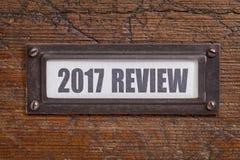 2017 przeglądów kartoteki gabineta etykietka Fotografia Royalty Free
