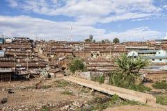 Przegląd Kibera, Kenja Obraz Stock