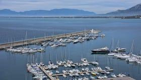 Przegląd marina Agropoli wioska Zdjęcie Stock