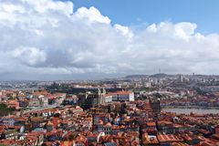 Przegląd miasto Porto Obraz Royalty Free
