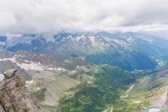 Przegląd od góry Titlis Engelberg Szwajcaria Obraz Stock