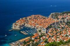 Przegląd stary miasteczko Dubrovnik, Chorwacja zdjęcie royalty free