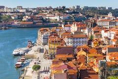 Przegląd Stary miasteczko Porto, Portugalia. Fotografia Stock