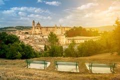 Przegląd Urbino Obraz Stock