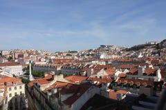 Przegląd w centrum Lisbon Obrazy Royalty Free