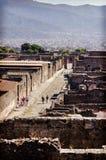 Przegląda antycznego miasto Pompeii Obrazy Stock