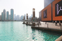 Przegląd Dubaj centrum handlowe Obrazy Royalty Free