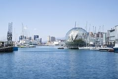 Przegląda port genua Obraz Royalty Free