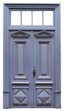 Przegniły koszowy bluevintage drzwi obraz stock