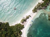 Przegrana wyspa caribean denny Cartagena zdjęcie royalty free