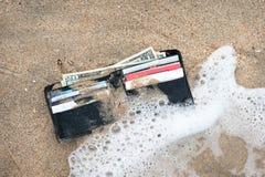 przegrany portfel Zdjęcie Stock