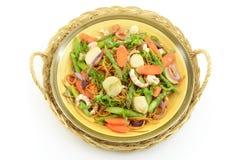 Przegrzebka garneli i asparagusa makaron, Zdjęcia Royalty Free