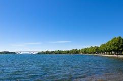 Przejście i most wodą Obrazy Royalty Free