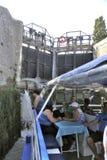 Przejście kędziorek Fonserannes na kanale du Midi Zdjęcie Stock