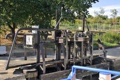 Przejście kędziorek Fonserannes na kanale du Midi Obraz Stock