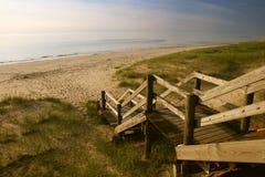 przejście na plaży Obraz Royalty Free