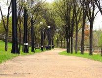 Przejście w parku - Louise McKinney nadbrzeże rzeki park, Edmonton obraz royalty free