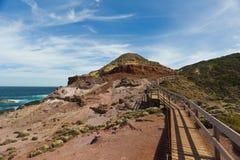 Przejście wzdłuż wybrzeża przylądek Schanck zdjęcia stock