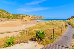 Przejście Zavial plaża Fotografia Stock