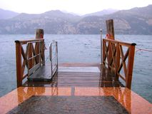 Przejście nad jeziorem Obraz Royalty Free