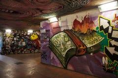 Przejście podziemne graffiti Obraz Stock
