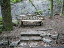 Przejście w jesieni central park Zdjęcie Royalty Free