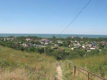 Przejście w wiosce Golubitskaya Rosja Fotografia Royalty Free
