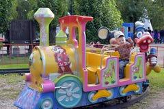 przejażdżkę dziecka jest pociąg Zdjęcie Royalty Free