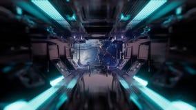 Przejażdżka w statku kosmicznego tunelu ilustracji