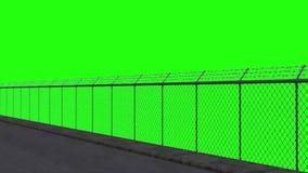 Przejażdżka wzdłuż ogrodzenia ochronnego 1 - zielony ekran ilustracji