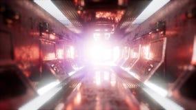 Przeja?d?ka w statku kosmicznego tunelu ilustracji