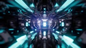 Przeja?d?ka w statku kosmicznego tunelu ilustracja wektor