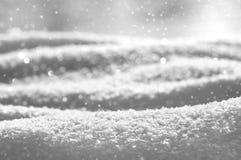 przejazd tła zimy śniegu Obrazy Royalty Free