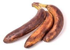 Przejrzali banany przed białym tłem zdjęcie royalty free