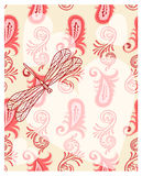 przejrzyści dragonfly serca Fotografia Stock