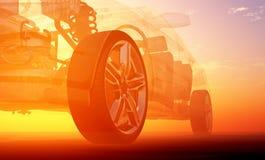 Przejrzyści wzorcowi samochody royalty ilustracja