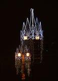 przejrzysta jabłczana czarny lampowa noc Zdjęcie Royalty Free