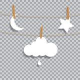 Przejrzysta księżyc gwiazda Zdjęcie Royalty Free