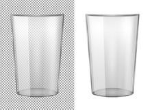Przejrzysta szklana waza ilustracja wektor