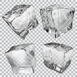 Przejrzyste kostki lodu Obraz Stock