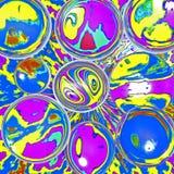 Przejrzyste piłki nad abstrakcjonistycznym tłem zdjęcie royalty free
