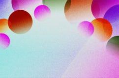 Przejrzyste piłki różny rozmiar i kolor na substracie jaskrawy tło obraz stock