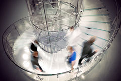przejrzysty ślimakowaty schody Obraz Stock