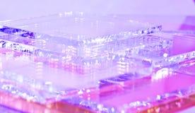 Przejrzysty barwiony szkło obraz stock