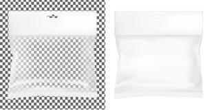 Przejrzysty pusty plastikowy pakować Pusta saszetka z zrozumienie szczeliną ilustracji
