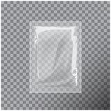 Przejrzysty Pusty szablon Pakuje folii wytarć kieszonki mokrą medycynę royalty ilustracja