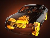 Przejrzysty samochodowy pojęcie Obrazy Royalty Free
