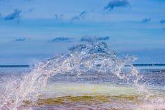Przejrzysty seawater pluśnięcie Fotografia Stock