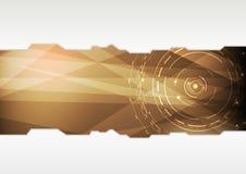 Przejrzysty skoroszytowy szablon w zaawansowany technicznie stylu Obrazy Royalty Free