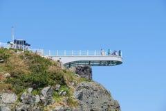 Przejrzysty skywalk widzieć Oryukdo wyspy Fotografia Royalty Free